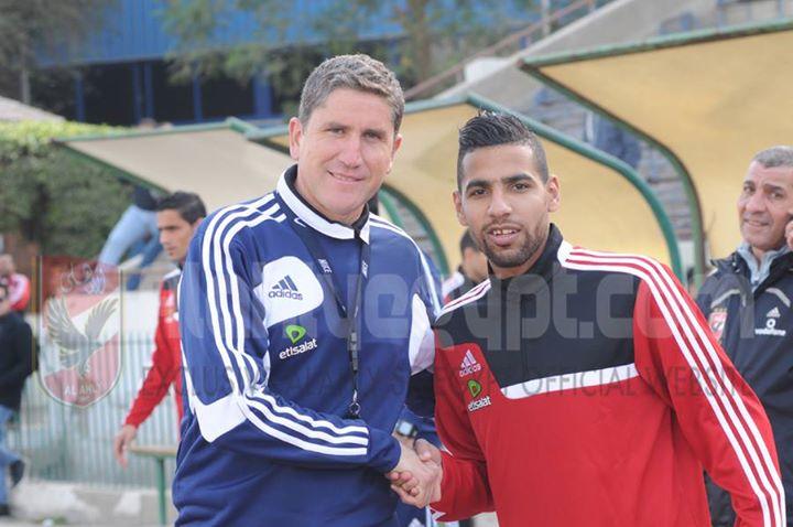 le coach Garrido et sa recrue Zakareya @alahlyegypt.com