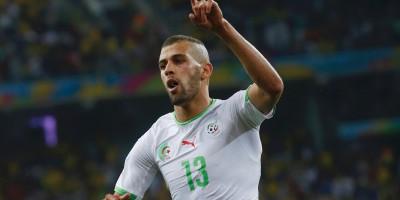 Islam Slimani  ses deux buts n'ont pas suffi pour sauver l'honneur des Fennecs