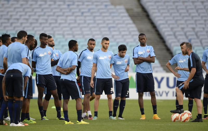 Le Qatar à l'entraînement avec coach Belmadi @ AFC media channel