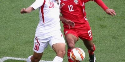 Hamza el Dardour auteur d'un quadruplé contre la Palestine   @ AFC media channel