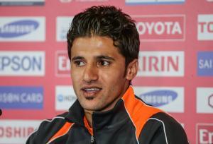 Hamza, décontracté après son quadruplé @ AFC media channel