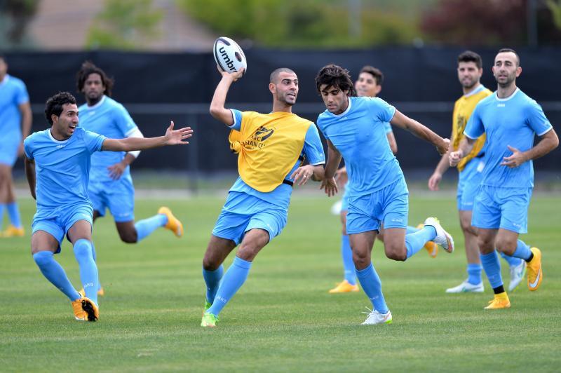 """L'entraînement ludique """"rugby"""" de l'Irak, son secret pour aller aussi loin dans le tournoi ? @ AFC media channel"""