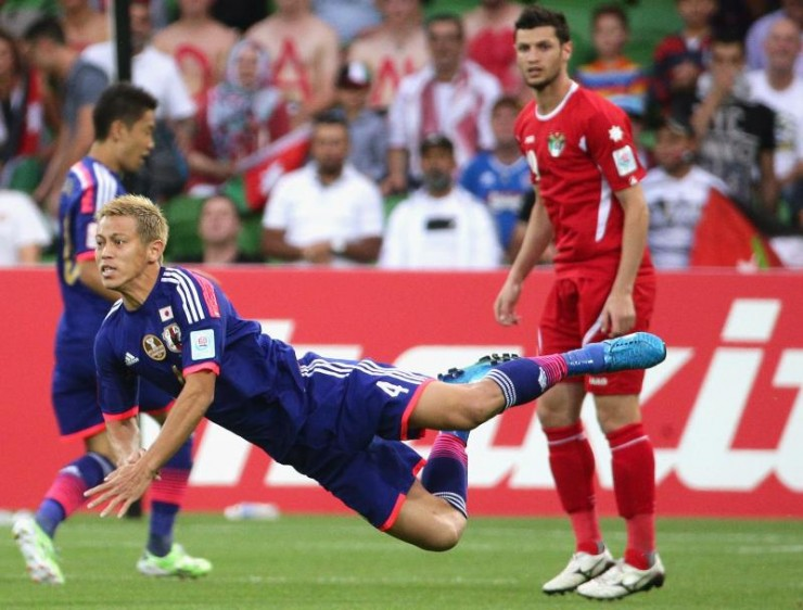 Keisuke Honda, bourreau de la Jordanie   @AFC media channel