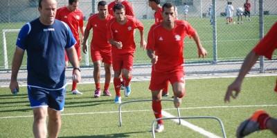 Noureddine Oul Ali à l'entraînement