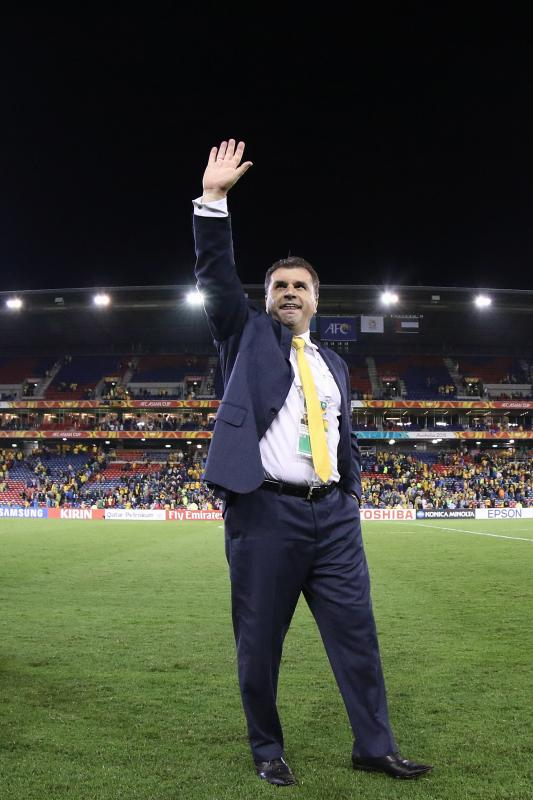Ange Postecoglou a conduit les Socceroos en finale de l'Asian Cup   @AFC media channel