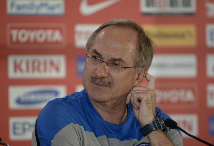 Uli Stielike, coach de la Corée  @ AFC media channel