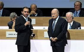 Prince Ali Ben Al-Hussein et Sepp Blatter