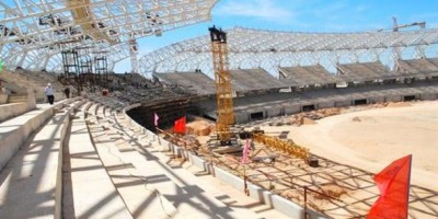 Chantier du stade d'Oran  (50 000 places)