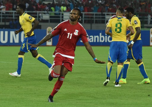 Javier Balboa, double buteur en quart contre la Tunisie.   @CAF media channel
