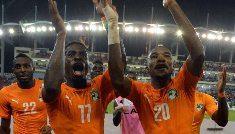 La joie des Ivoiriens Gradel et Serey Dié : les Eléphants sacrés champions d'Afrique 23 ans après ! @CAF online