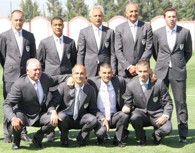 Brikci et le staff technique des Fennecs : Vahid Halilhodzic, Nordine Kourichi...