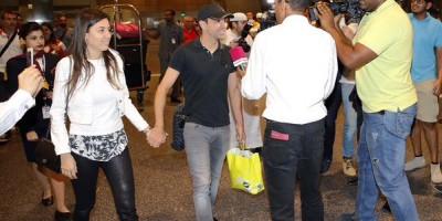 Xavi et sa femme à Doha