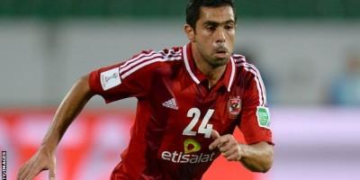 Ahmed Fathi  ( Al Ahly ) buteur en  Coupe arabe face à Al Wasl (2-2)