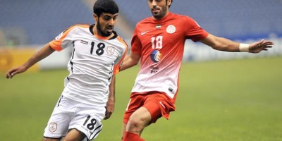 Abdullah Mousa (numéro 18 en rouge)