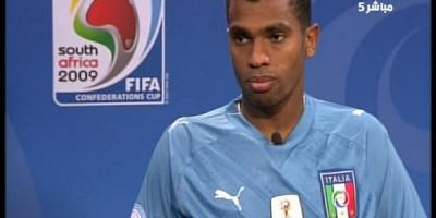 Mohamed Homos, après la victoire contre l'Italie dans la Coupe de la Confédération FIFA