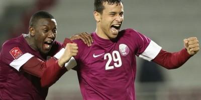 Mohammed Musa (à gauche) buteur contre Singapour