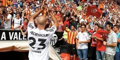 Aymen Abdennour à son arrivée à Valence en 2015