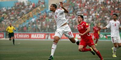 La Palestine avait  pourtant reçu en septembre les Emirats arabes unis au  Faisal Al Husseini Stadium