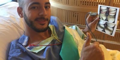 Amrabat après  son opération (Photo Malaga CF)