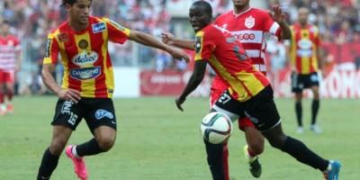 Saad Mbguir ( a gauche) milieu offfensif prometteur de l'ES Tunis