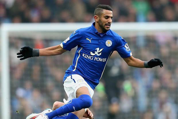 Riyad Mahrez, Leicester, Jaimie Vardy,