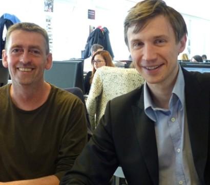 Bastien Drut et Richard Duhautois, auteurs du livre