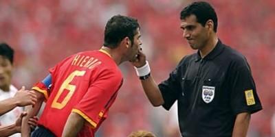 Gamal El Ghandour lors de Corée du Sud - Espagne lors du Mondial  2022