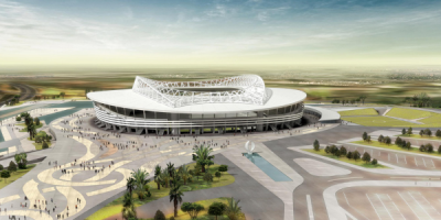 Maquette du stade de Baraki (Alger)