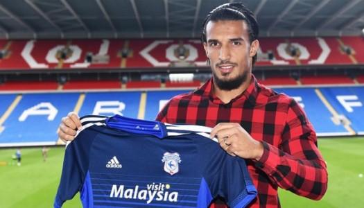 Cardiff City:  pige d' Idriss Saadi à Courtrai