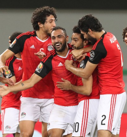 En finale de la CAN 2017  avec l'Egypte (Photo cafonline )