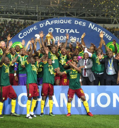 Les Lions Indomptables champions 2017 (photo cafonline) devront battre les Comores pour espérer défendre leur titre en 2019