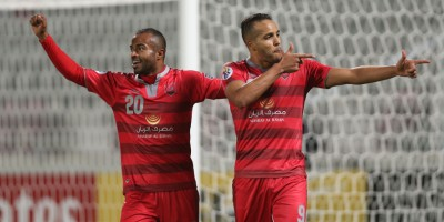 Youssef  El Arabi et  Lekhwiya sont gourmands (photo afc.com)