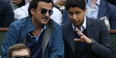 L'émir Tamim Al Thani et Nasser Al-Khelaifi  président du PSG