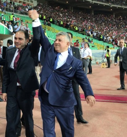 Irak - Jordanie à eu lieu  Basra, mais la FIFA n'autorise que les matches amicaux  en Irak