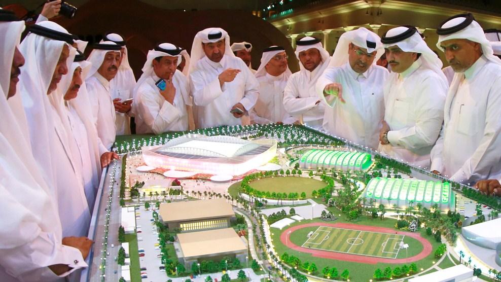 La maquette du stade d'Al Rayyan (Mondial 2022)