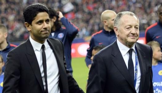 Lyon:  Aulas aime le Paris SG… en Europe
