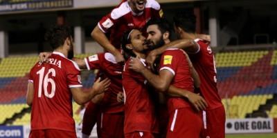 Scènes de joie après la victoire de la Syrie face au Qatar (3-1)