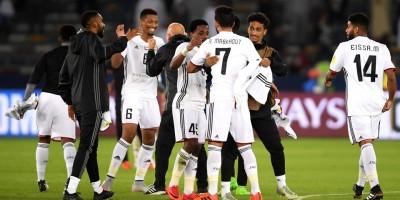 L'énorme joie des joueurs d'Al Jazira après leur succès  face à Urawa Red Diamonds (photo fifa.com )