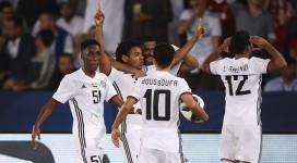 Les joueurs d'Al Jazira après le but de Romarinho (photo Fifa.com )