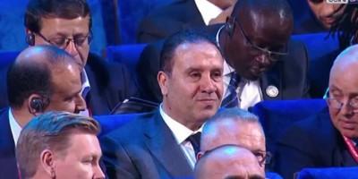 Nabil Maaloul assistant au tirage au sort de la Coupe du monde à Moscou