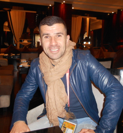 Adel Chedli à Casablanca comme ambassadeur de la CAF au  CHAN
