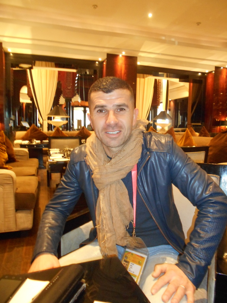 Adel Chedli, Casablanca 18 janvier (Photo www.2022mag.com )