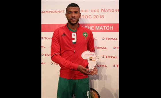 Ayoub El Kaabi confirme en équipe A ses performances du CHAN 2018  (photo cafonline.com)