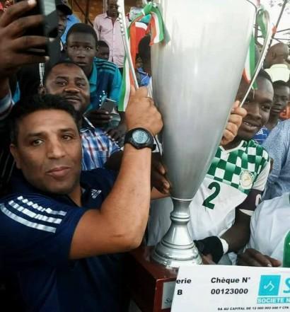 Rachid Ghaflaoui,  vainqueur de la Coupe avec le Niger SC