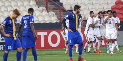 Al Jazira (en blanc)  victorieux d'Al Gharafa (3-2) lors de la première journée de la LDC  (photo afc.com)