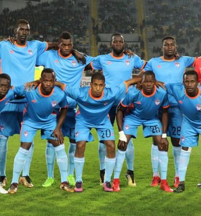 Le FC Nouadhibou  face au Raja au stade Mohammed V  (photo page dacebook  du club)