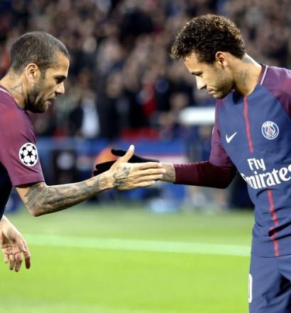 Alves et Neymar