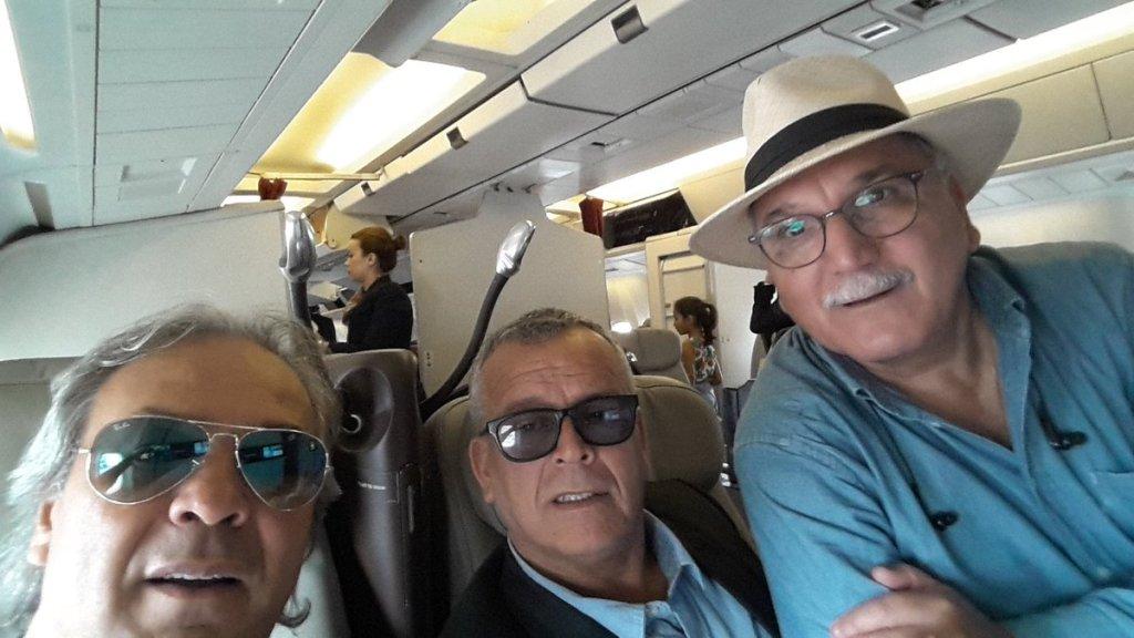 Selfie avec  Lakhdar Belloumi  et Rabah Madjer  (Photo compte Twitter du dr Zerguini )