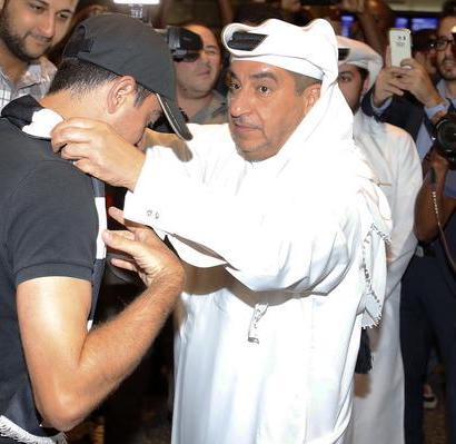 L'accueil princier réservé à   Xavi à son arrivée à Doha en juin 2015