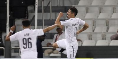 Encore un doublé  pour Baghdad Bounedjah avec Al Sadd en Ligue des champions . Photo afc.com